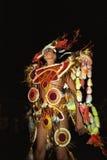Retrato de bailar al hombre joven, jaranero del carnaval Fotografía de archivo libre de regalías