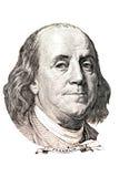 Retrato de Benjamin Franklin Imagen de archivo libre de regalías