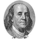 Retrato de Benjamin Franklin Fotografía de archivo