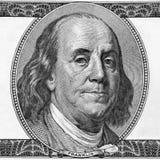 Retrato de Benjamin Franklin Foto de Stock