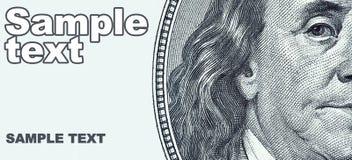 Retrato de Benjamin Franklin Fotografia de Stock