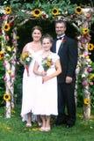 Retrato de boda de la familia Imagenes de archivo