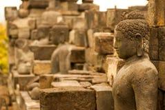 Retrato de Buda en la isla de Borobudur Java, Indonesia Fotografía de archivo