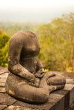 Retrato de Buda sin cabeza del lado Imagenes de archivo