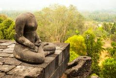 Retrato de Buda sin cabeza del lado Foto de archivo