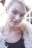 Retrato de Candice Swanepoel do modelo de forma Fotografia de Stock