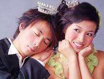 Retrato de casamento Fotografia de Stock