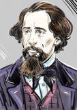 Retrato de Charles Dickens libre illustration