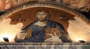 Retrato de Christ na igreja de Chora, Istambul foto de stock