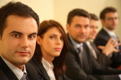 Retrato de cinco pessoas do negócio Imagem de Stock