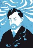 Retrato de Claude Debussy, ejemplo del vector