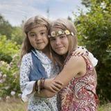 Retrato de crianças de flor Imagem de Stock