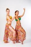 Retrato de dançarinos de barriga bonitos Fotos de Stock