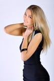 Retrato de dança da mulher nova Imagens de Stock