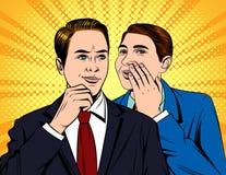 Retrato de dois homens de negócios consideráveis novos que que têm a conversação ilustração stock