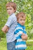 Retrato de dois irmãos. Imagem de Stock Royalty Free