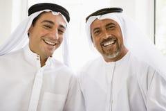 Retrato de dos hombres de Oriente Medio Fotos de archivo