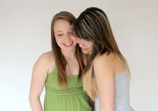 Retrato de dos muchachas adolescentes Fotos de archivo
