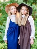 Retrato de dos muchachas de novias en un verano imagen de archivo