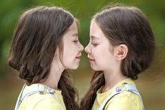 Retrato de dos niñas Imagen de archivo libre de regalías