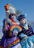 Retrato de duas fêmeas no carnaval em Annecy, Imagem de Stock Royalty Free