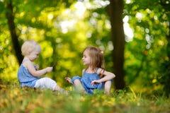 Retrato de duas irmãs fora Imagem de Stock