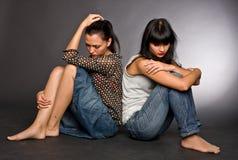 Retrato de duas meninas foto de stock royalty free
