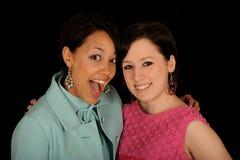 Retrato de duas mulheres Fotos de Stock Royalty Free