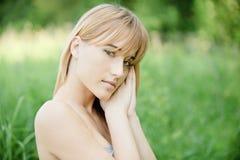 Retrato de encantar de pelo rubio Fotografía de archivo libre de regalías