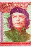 Retrato de Ernesto Che Guevara en Peso cubano Imagen de archivo