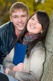 Retrato de estudantes alegres Fotografia de Stock