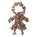 Retrato de feijões de café Fotografia de Stock Royalty Free