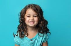 Retrato de feliz, menina do ittle Fotos de Stock Royalty Free