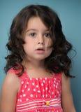 Retrato de feliz, positivo, sorrindo, menina Imagem de Stock