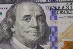 Retrato de Franklin na cédula Imagens de Stock Royalty Free