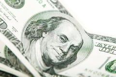 Retrato de Franklin uma cédula 100 dólares Fotografia de Stock
