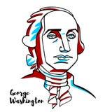 Retrato de George Washington ilustração stock