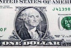 Retrato de George Washington en un dólar Foto de archivo libre de regalías