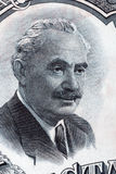 Retrato de Georgi Dimitrov Mikhaylov del dinero búlgaro Imágenes de archivo libres de regalías