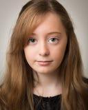 Retrato de Ginger Teenage Girl hermoso Imágenes de archivo libres de regalías