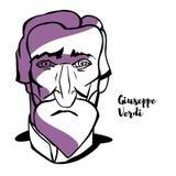 Retrato de Giuseppe Verdi ilustração royalty free
