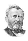 Retrato de Grant em cinqüênta dólares de conta. Fotografia de Stock Royalty Free