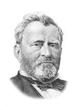 Retrato de Grant en cincuenta dólares de cuenta. ilustración del vector