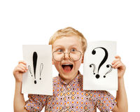 Retrato de griterío del muchacho del howcast Fotos de archivo libres de regalías