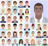 Retrato de homens africanos, executivos, ilustração do vetor Foto de Stock