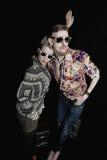Retrato de homens e de mulheres à moda Fotografia de Stock