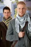 Retrato de homens na moda consideráveis Foto de Stock Royalty Free