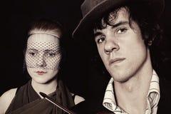 Retrato de homens novos e de mulheres Foto de Stock Royalty Free