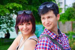 Retrato de indivíduos e de meninas felizes Fotos de Stock