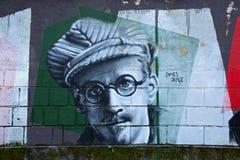 Retrato de James Joyce imágenes de archivo libres de regalías